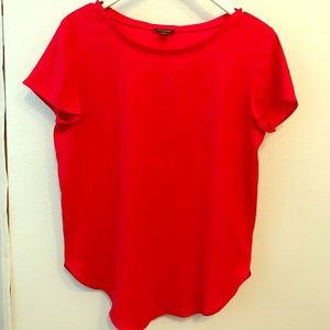 Lipstick red blouse